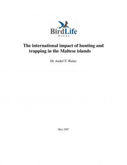 BLM Report_The international impact of hunting and trapping in the Malte...