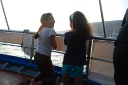 Children enjoying the Shearwater boat trip