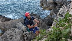 LIFE Arċipelagu Garnija project warden Juan Salvador Santiago Cabello
