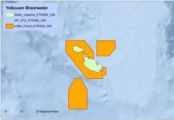 Yelkouan Shearwater IBA map