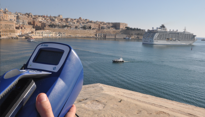 Air pollution measurements in the Grand Harbour
